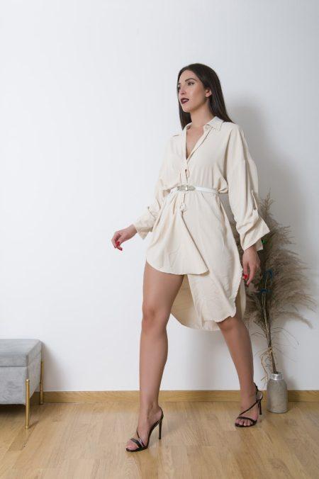 Φορέστε το CrepeShirtDress με πέδιλα και ζώνη για ένα βραδίνο look ή σαν πανωφόρακι πάνω απο λεπτό τοπ και τζιν . Εναλλακτικά συνδιάστε το με ζώνη πανω απο ένα slim fit παντελόνι για μια άνετη εμφάνιση στο γραφείο.