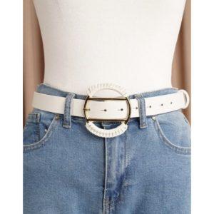 ΖΩΝΗ ΜΕ ΣΤΡΟΓΓΥΛΗ ΑΓΚΡΑΦΑ , συνδιάστε την με ψηλομέσα τζιν ή φορέστε την πάνω απο φαρδιές παντελόνες και πουκαμίσες!